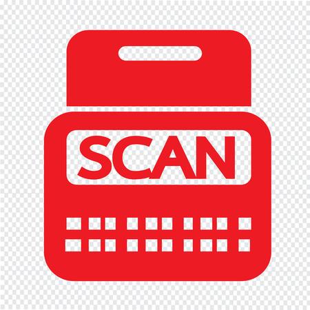 payee: Scan Stock Icon symbol Illustration design