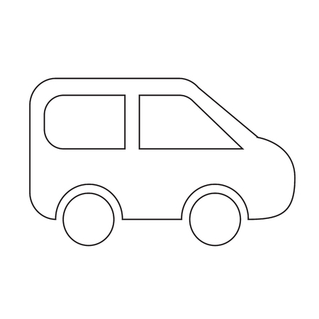 suv: SUV Car Icon Illustration design