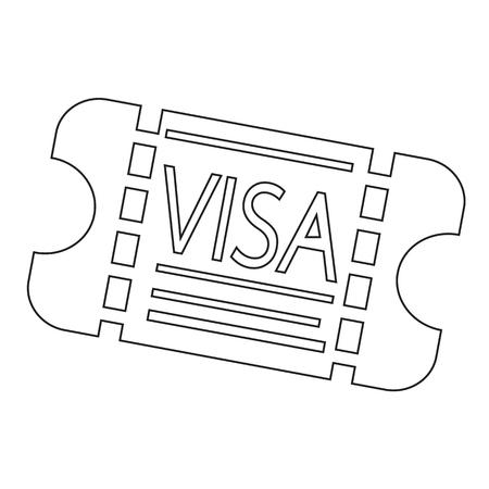 obtain: Entrance Visa icon Illustration design