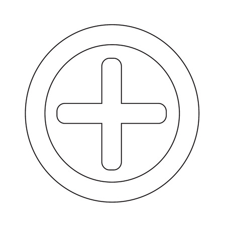 additional: Additional plus Icon symbol Illustration design Illustration