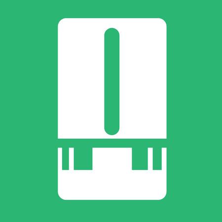 pluviometro: Estación meteorológica icono del medidor de diseño Ilustración
