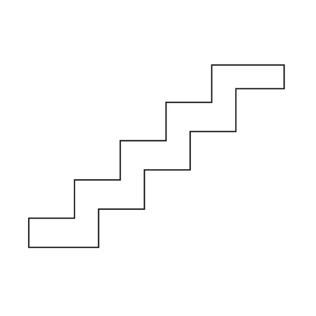 rise to the top: staircase icon Illustration symbol design Illustration