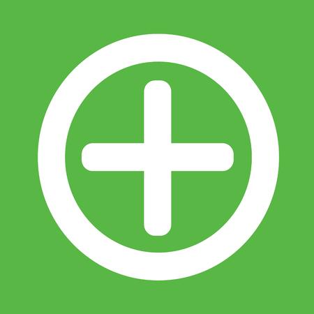 cross bar: Additional plus Icon symbol Illustration design Illustration