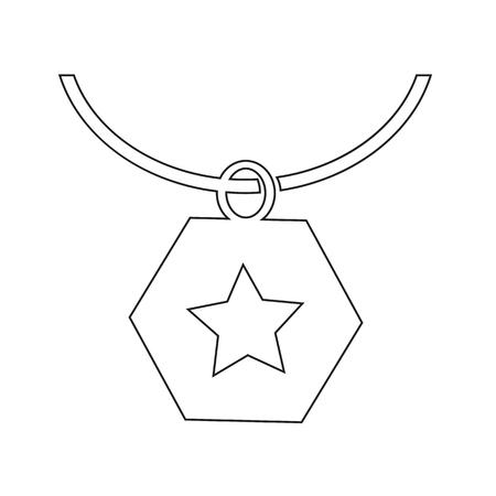 sheen: Necklace Icon Illustration synbol design