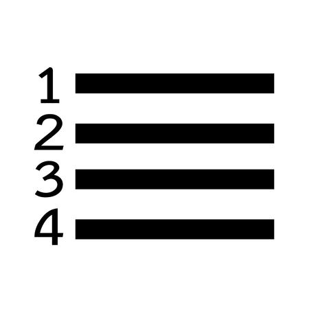 enumerated: Numbered List icon Illustration symbol design