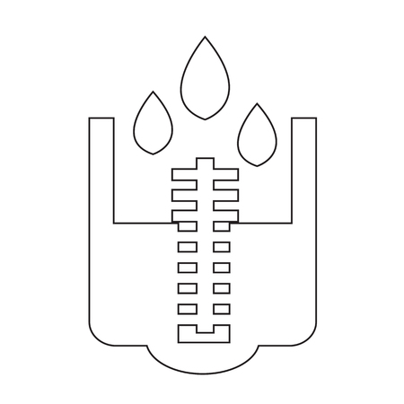flux: rain meter icon Illustration design