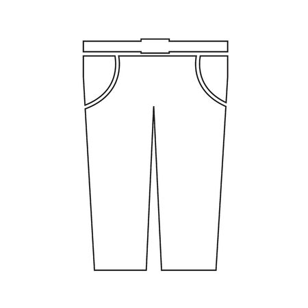 trousers: Trousers Icon Illustration sign design Illustration