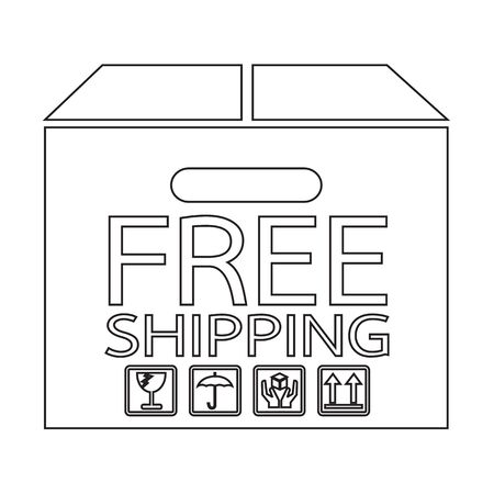 Free Shipping Box icon Illustration symbol design