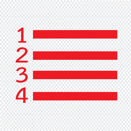 roster: Numbered List icon Illustration symbol design