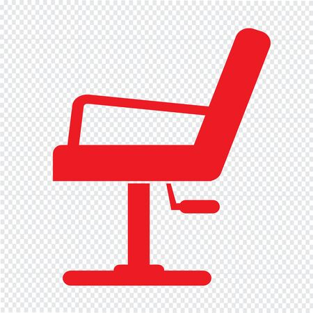 Barber Chair Icon Illustration design