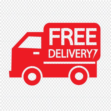 free delivery icon Illustration symbol design