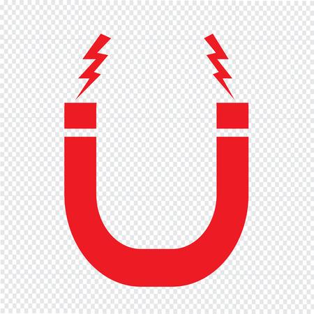 permanent wave: Magnetic Icon symbol Illustration design