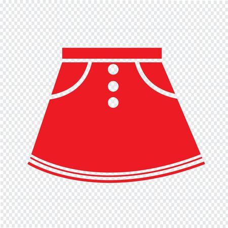 skirts: skirts icon Illustration sign design