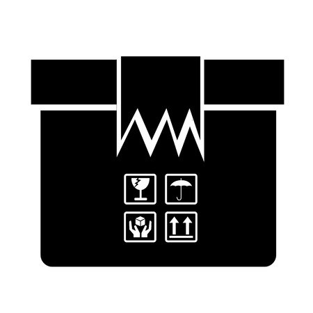 stockpile: Box Package Icon symbol Illustration design