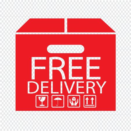 Free delivery Box icon Illustration symbol design