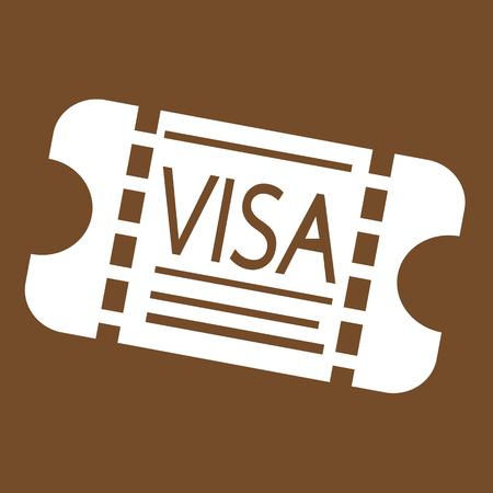 authorisation: Entrance Visa icon Illustration design