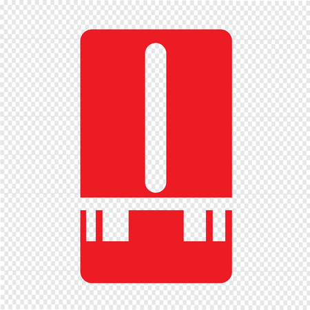 rain gauge: Estaci�n meteorol�gica icono del medidor de dise�o Ilustraci�n