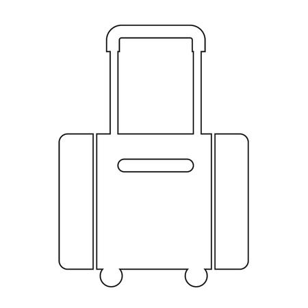 suit case: luggage symbol icon Illustration design Illustration