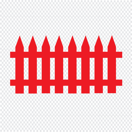 fence Icon Illustration design