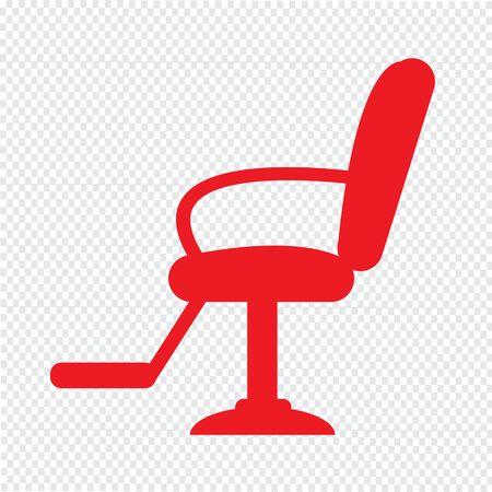 massage: Barber Chair Icon Illustration design