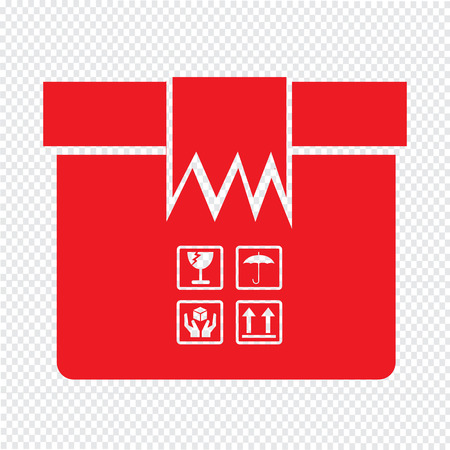 package icon: Box Package Icon symbol Illustration design