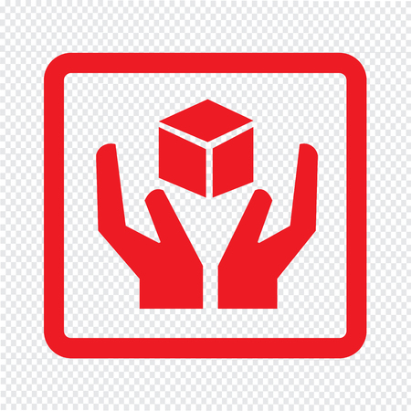 fragile icon symbol Illustration design
