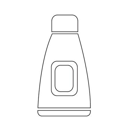 cream tube: Cream Tube Icon Illustration design