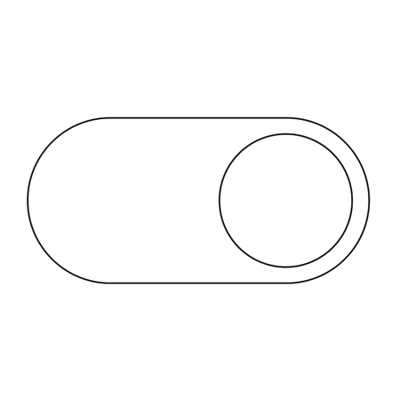 toggle switch: Toggle switch icon Illustration design