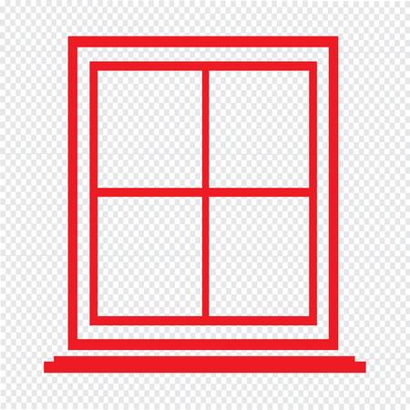 sill: window icon Illustration symbol design