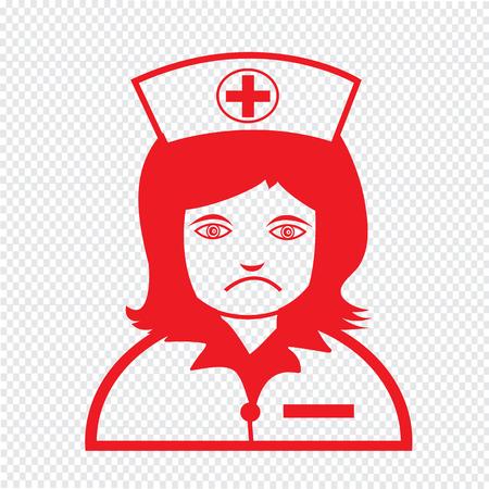 emotion: Nurse Face emotion Icon Illustration sign design Illustration