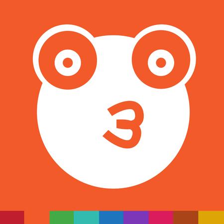treefrog: Frog emotion Icon Illustration sign design