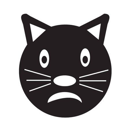 emotion: Cat Face emotion Icon Illustration sign design