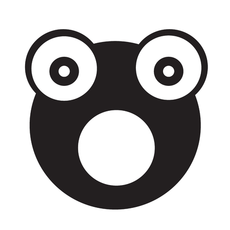 agalychnis: Frog emotion Icon Illustration sign design