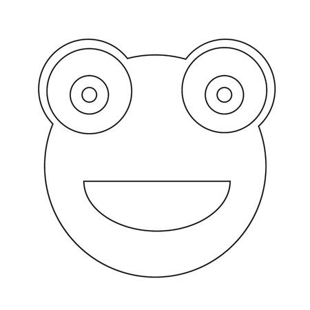 bullfrog: Frog emotion Icon Illustration sign design