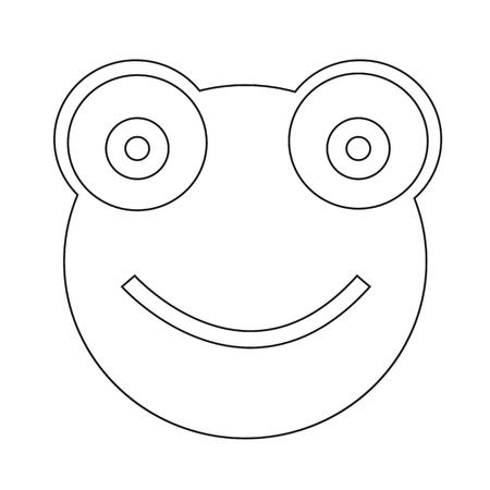 zoo amphibian: Frog Icon Illustration sign design