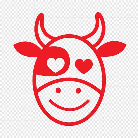 emotion: Cow Face emotion Icon Illustration sign design Illustration