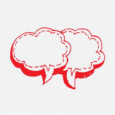 talk bubble: Speech bubble hand drawn Illustration symbol design