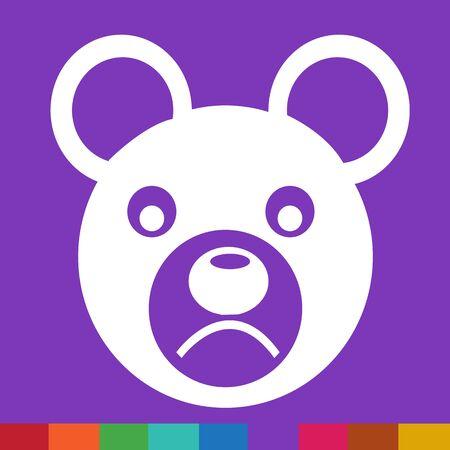 emotion: Bear Face emotion Icon Illustration sign design