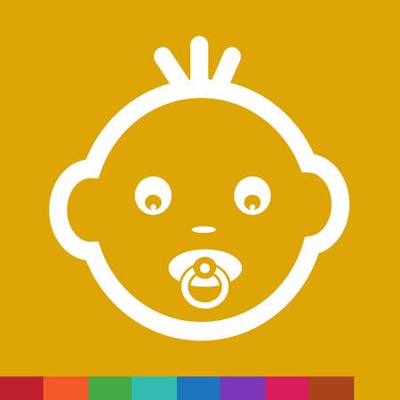 innocent girl: Cute Baby Face Emotion Icon Illustration symbol design