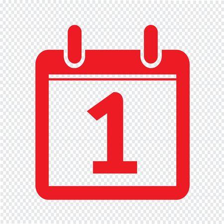 ring binder: Date Calendar icon illustration sign design style