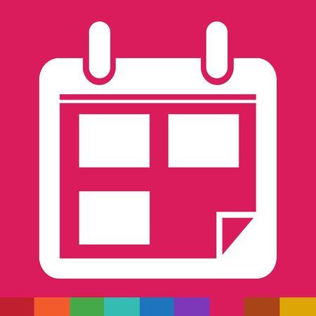 ring binder: Calendar icon illustration sign design style Illustration