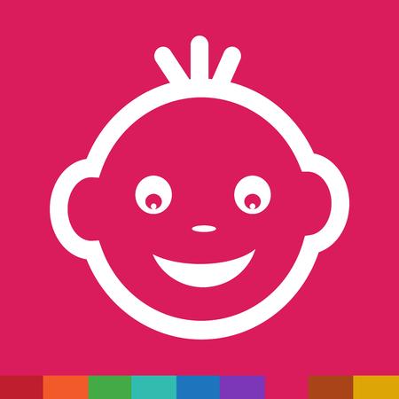 emotion: Baby Face Emotion Icon Illustration symbol design