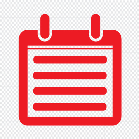 weekly planner: Day Calendar icon illustration sign design style Illustration