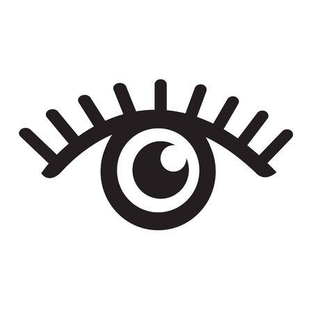 Eye icon illustration Vettoriali