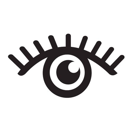 Eye icon illustration Illustration