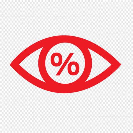 eye icon: Eye icon illustration Illustration
