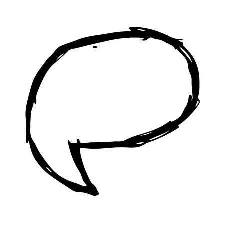 text bubble: Speech bubble hand drawn Illustration symbol design