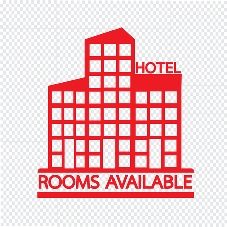 Hotel Rooms Available icon Illustration design Illustration