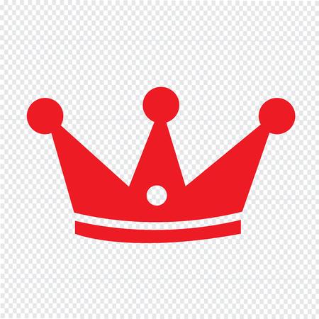 the aristocracy: Crown icon Illustration design