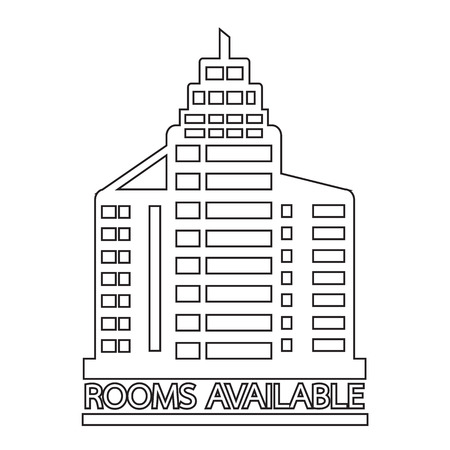 availability: Hotel Rooms Available icon Illustration design Illustration
